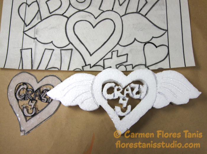 Smoothfoam-Framed-Carved-Heart-Step-1