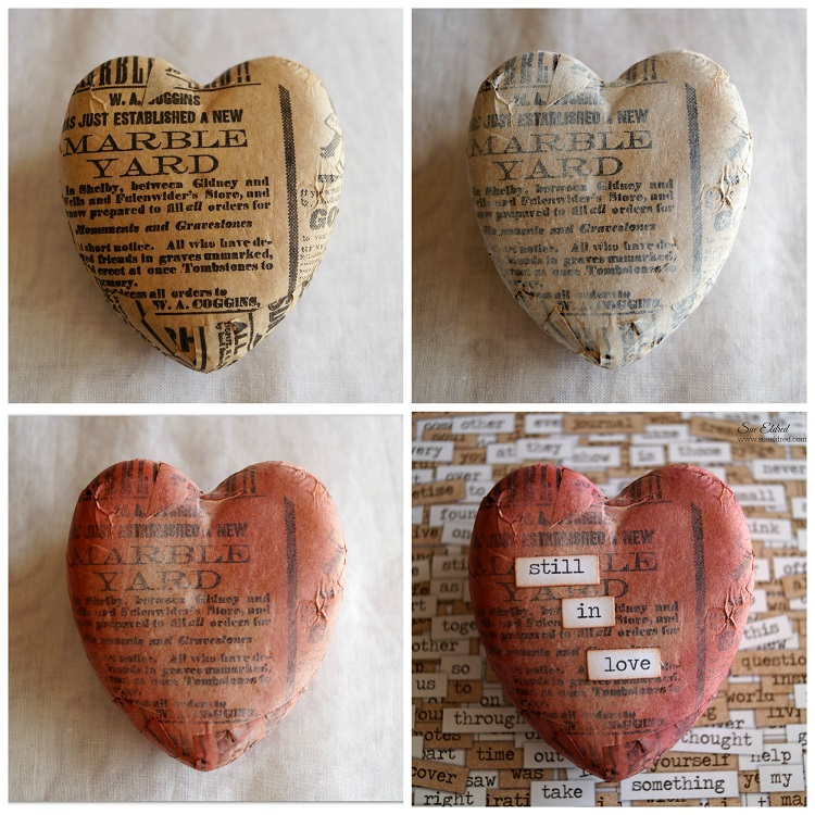 Vintage Heart Collage 2