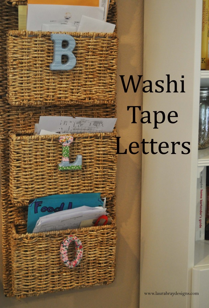 smoothfoam Washi Tape Letters