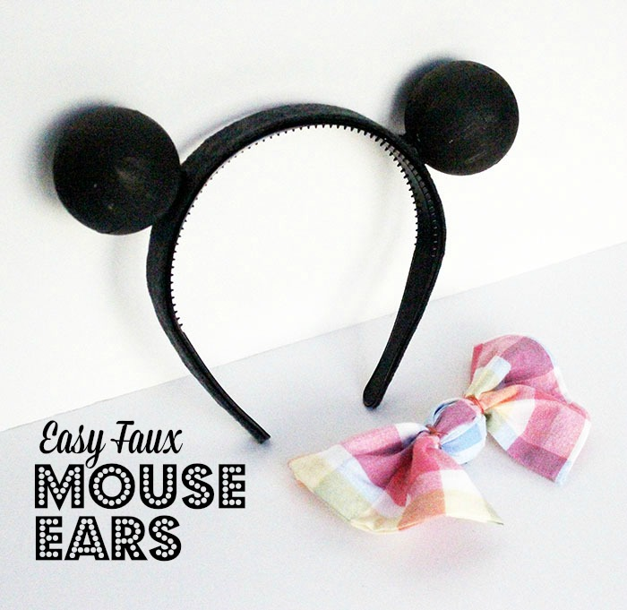 Easy Faux Mouse Ears with Bow JPriest