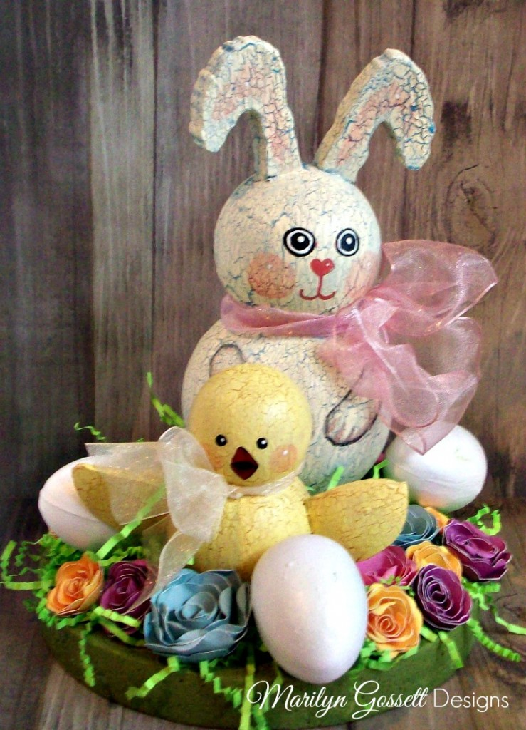 Smoothfoam Easter bunny centerpiece
