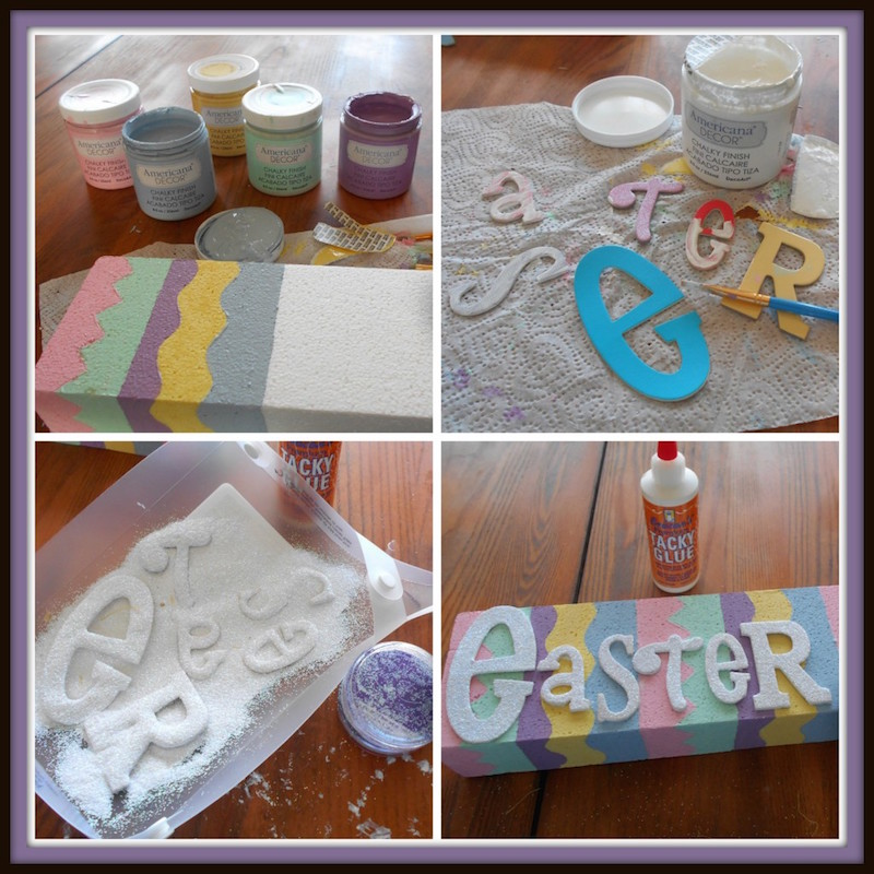 how to make smoothfoam easter sign