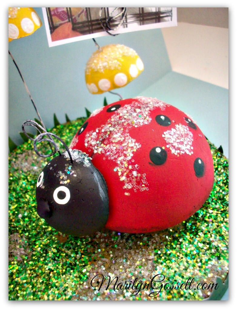 Smoothfoam ladybug and mushrooms