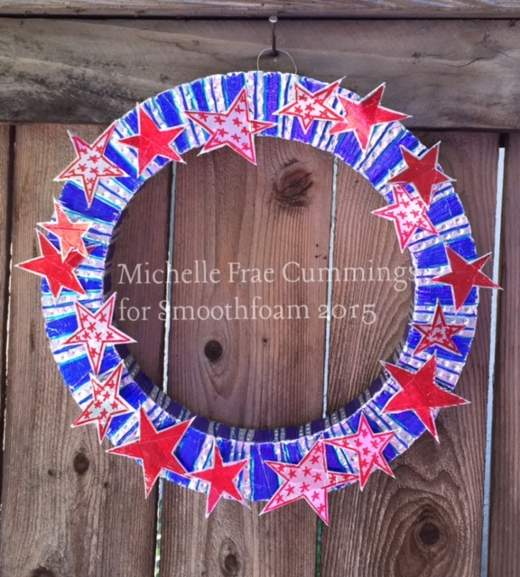smoothfoam 4th of july wreath