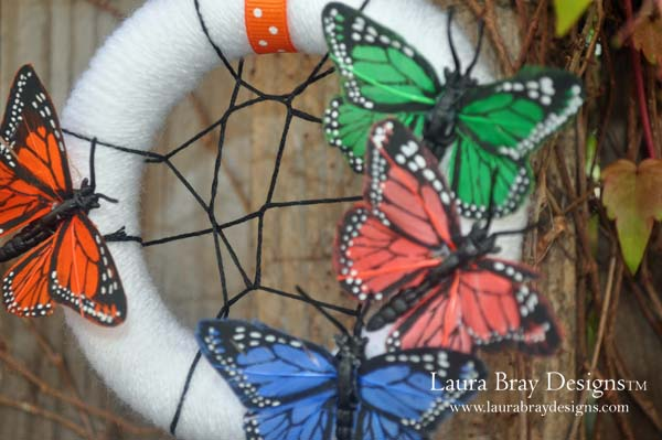 smoothfoam wreath Butterfly Dream Catcher