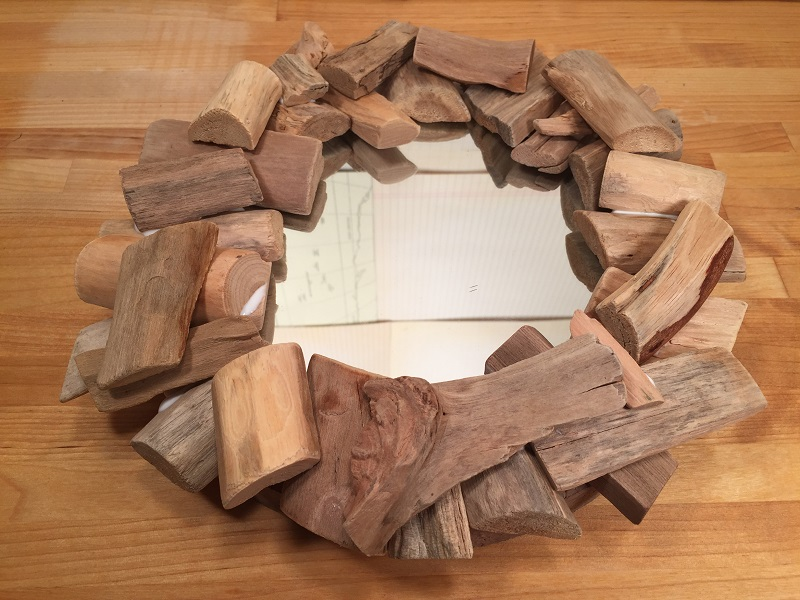 smoothfoam driftwood mirror
