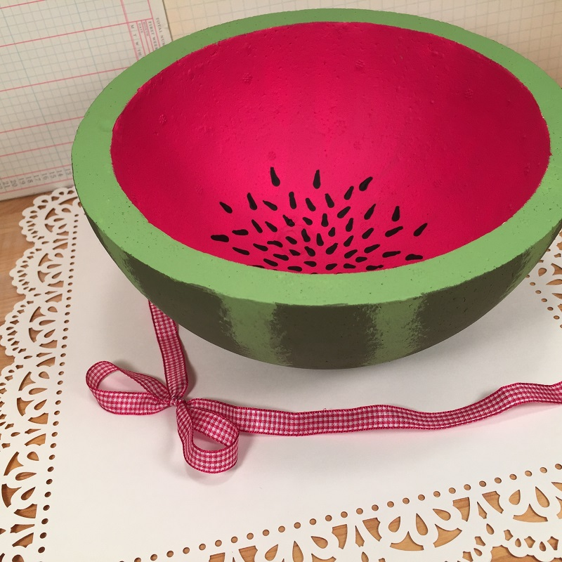 smoothfoam painted watermelon bowl