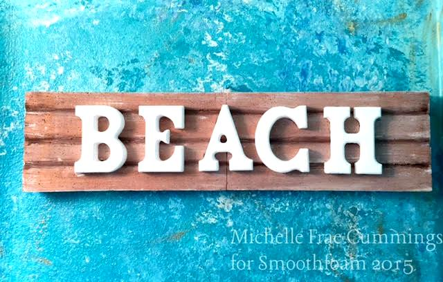 faux driftwood beach sign