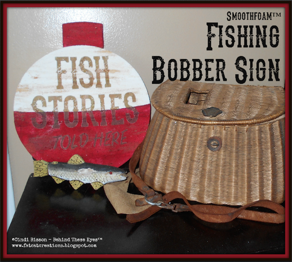 smoothfoam Fishing Bobber Sign