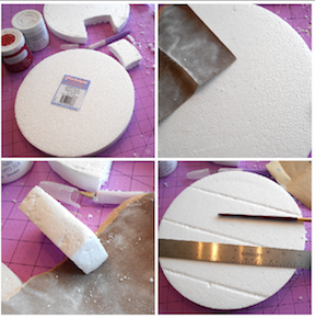 make smoothfoam disc look like wood panel