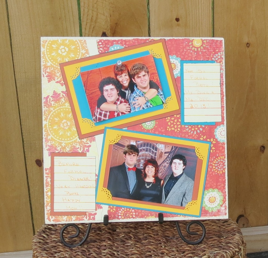smoothfoam scrapbook page layout