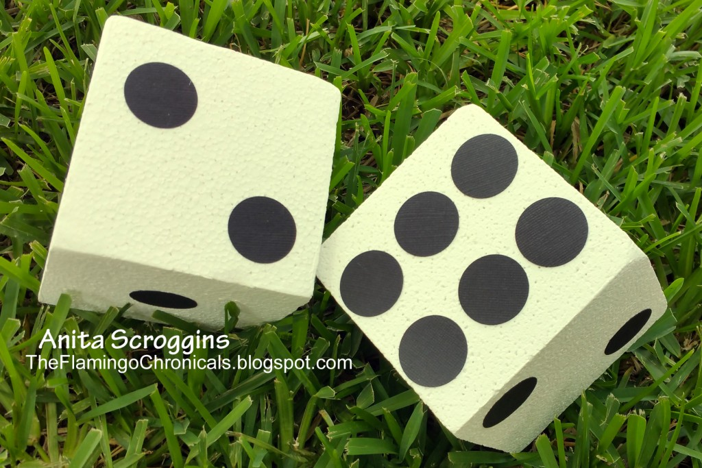 DIY supersize smoothfoam game dice