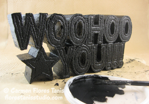 paint smoothfoam sign black