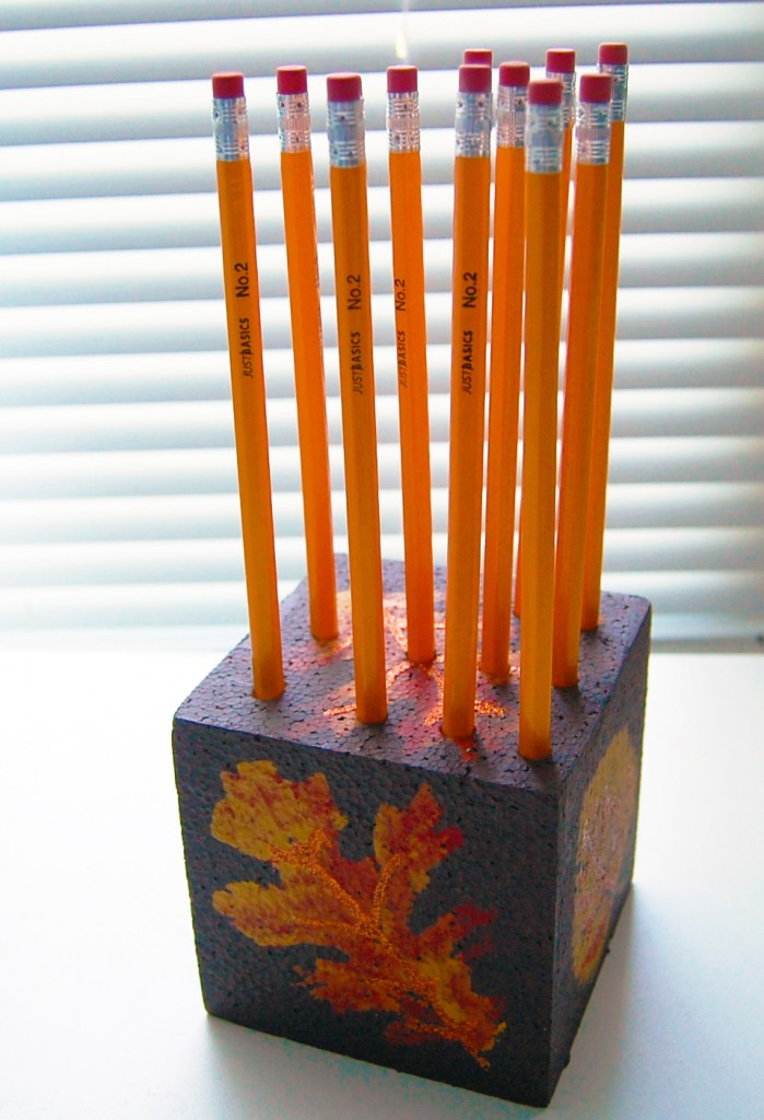 Smoothfoam teacher gift pencil holder