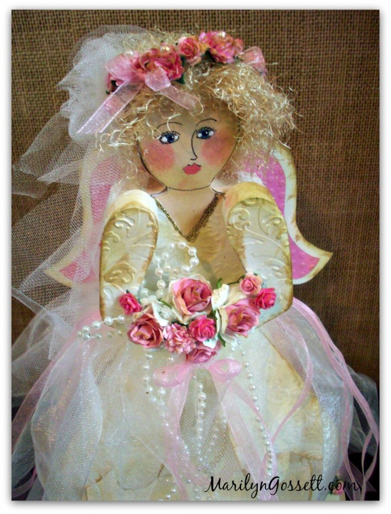 smoothfoam shabby chic angel bride decoration