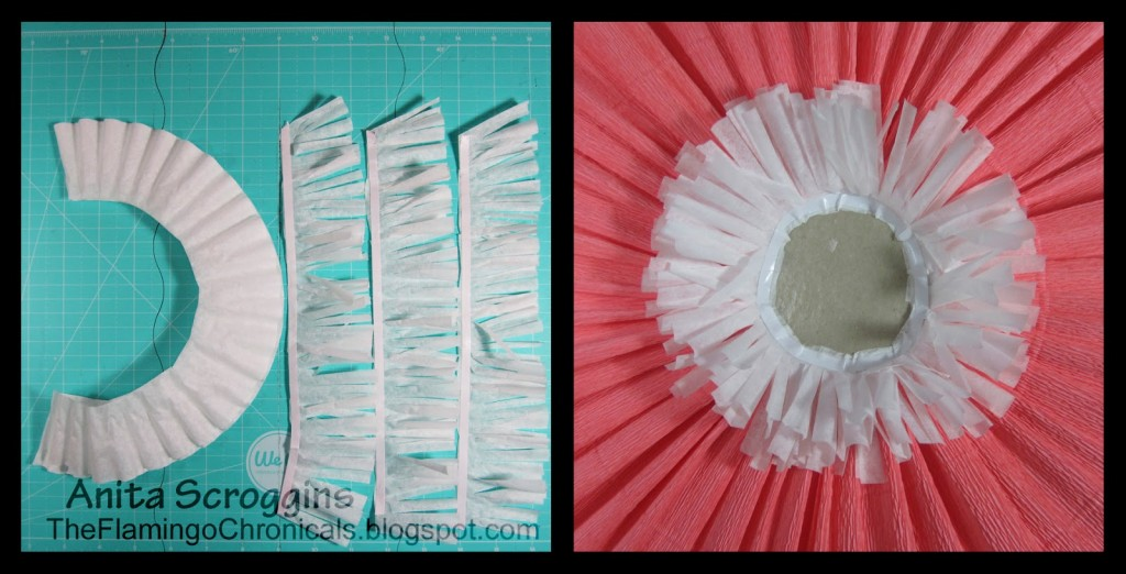 how to make coffee filter fringe