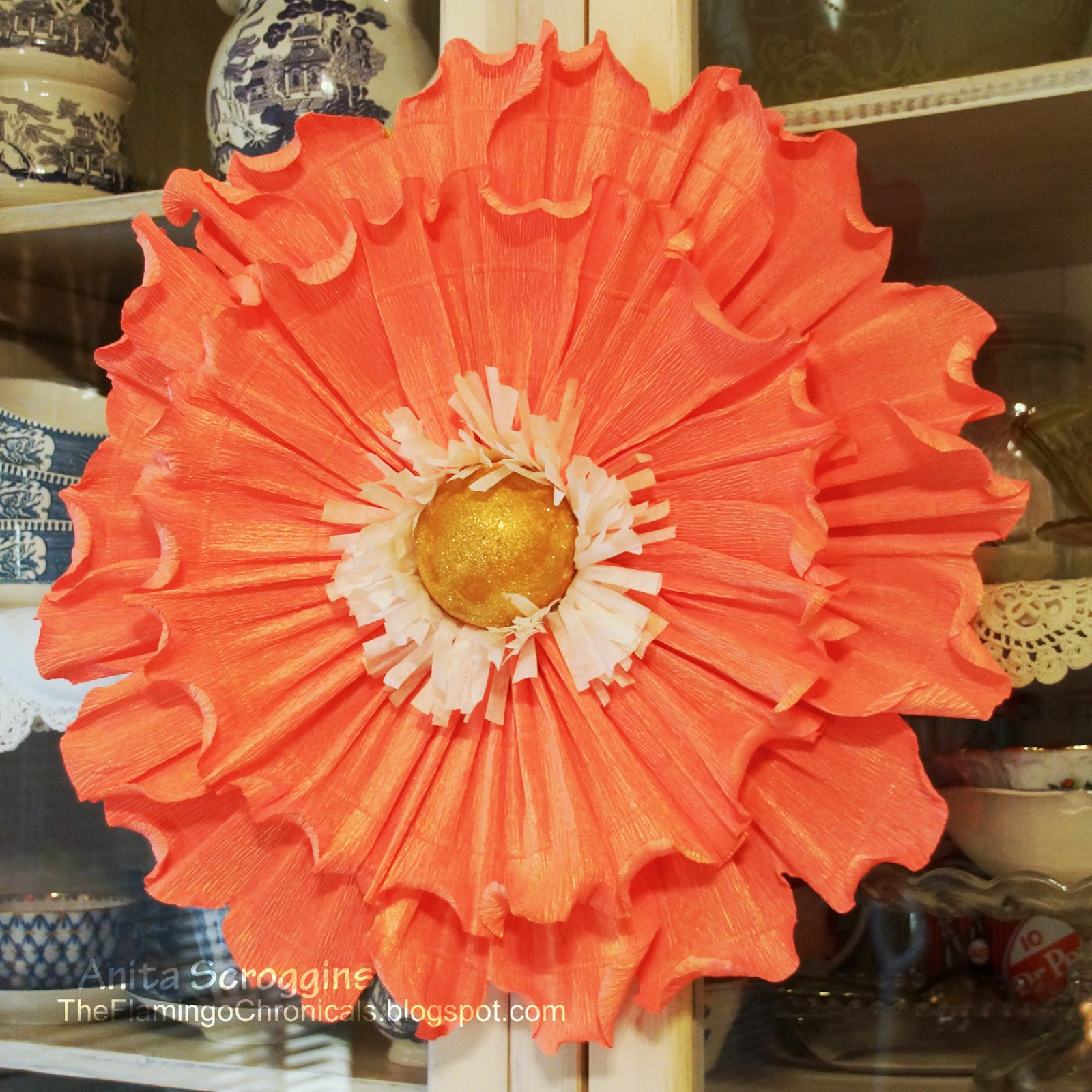 Giant crepe paper flowers diy flower decorations smoothfoam large crepe paper flower mightylinksfo