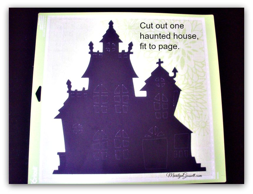 diecut haunted house