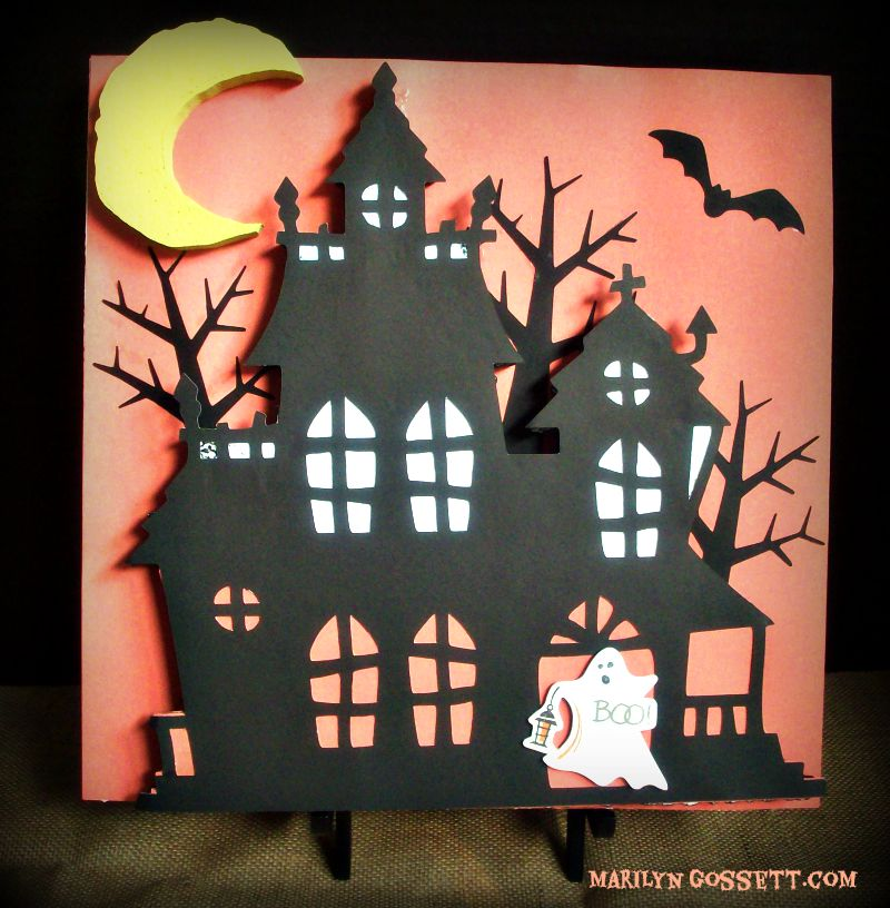 Smoothfoam haunted house plaque