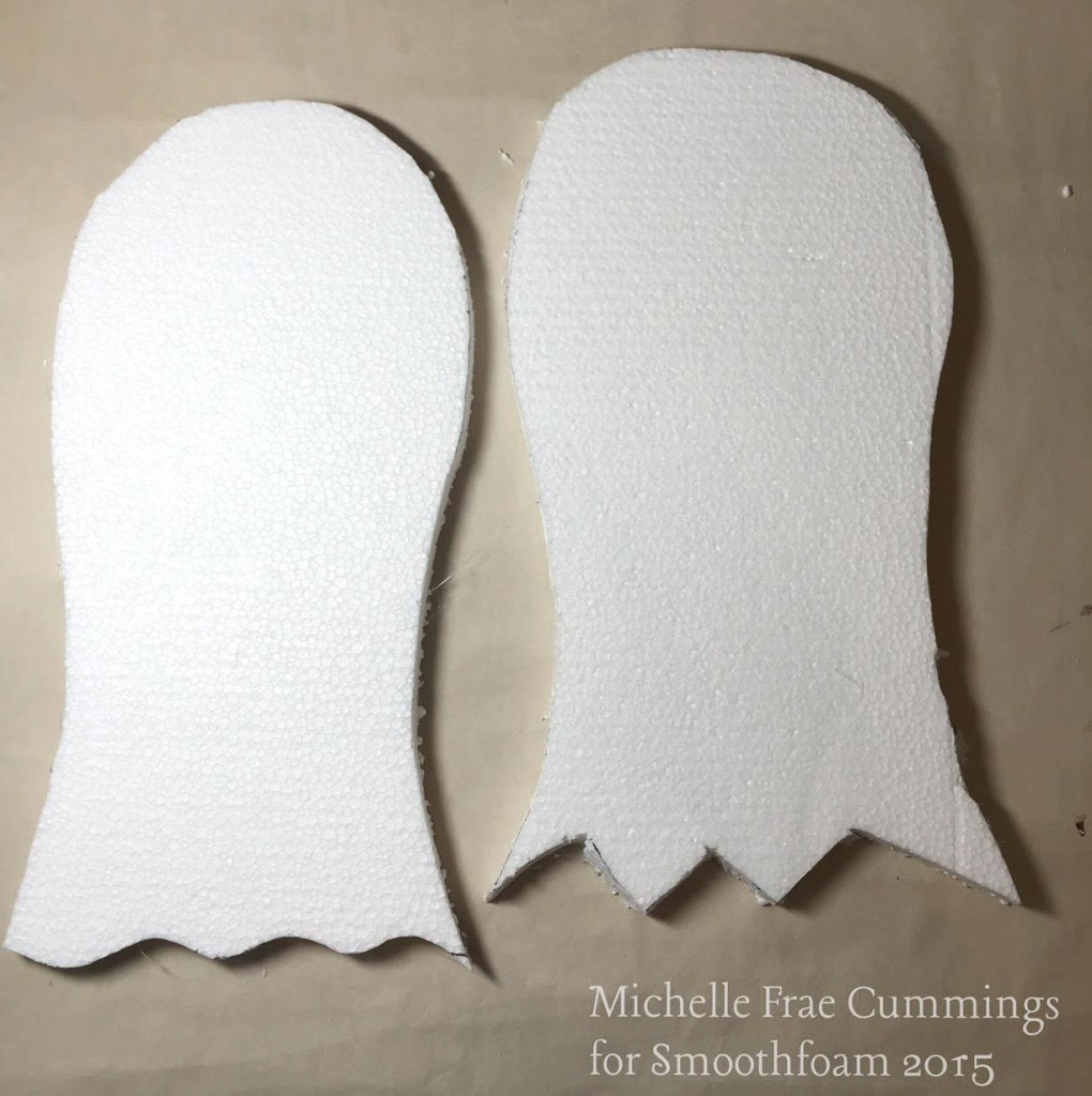 cut out ghost shapes from smoothfoam