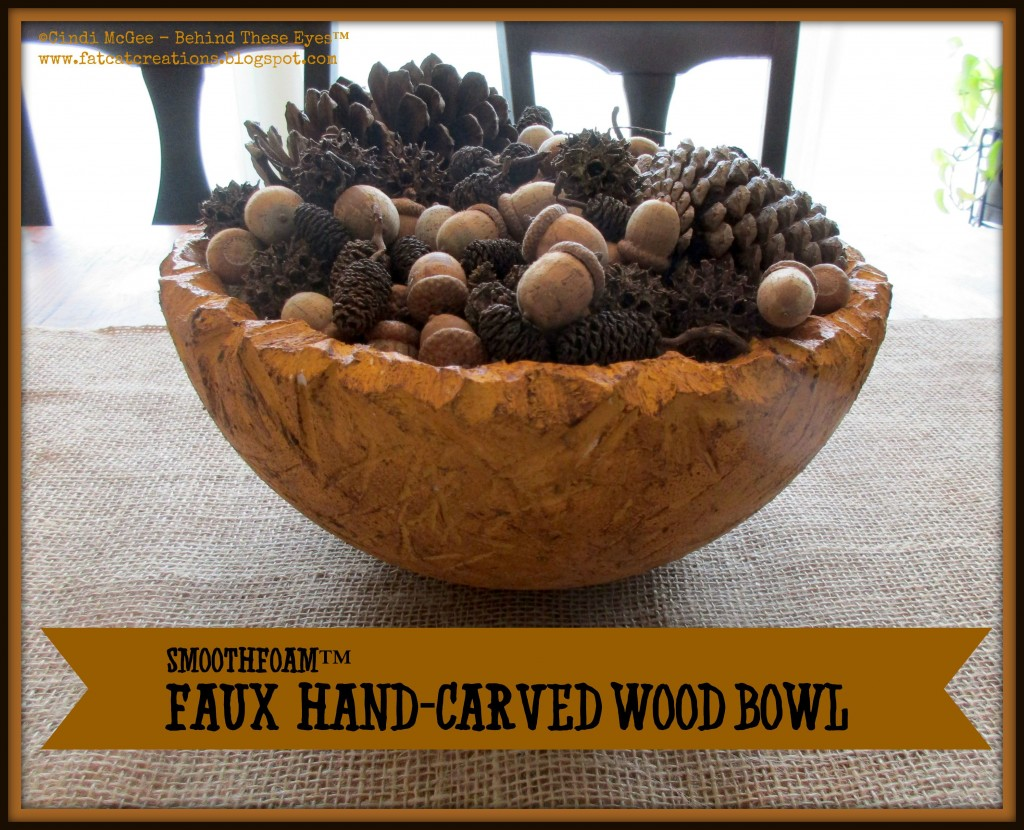 smoothfoam carved faux wood bowl
