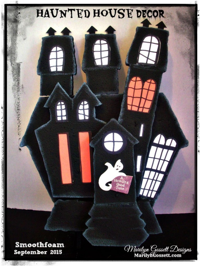 Smoothfoam haunted house halloween decoration