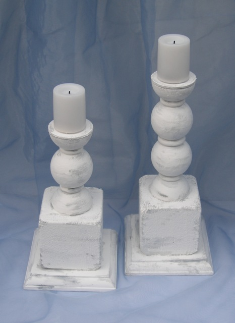 smoothfoam faux wood Candlesticks