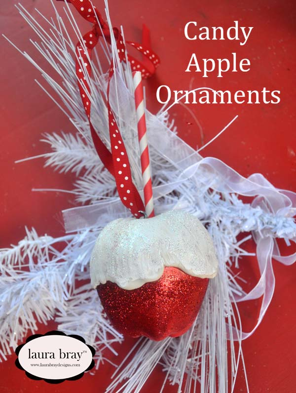smoothfoam Candy Apple Ornament