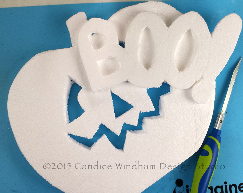 Smoothfoam BOO Pumpkin cut outs CWindham