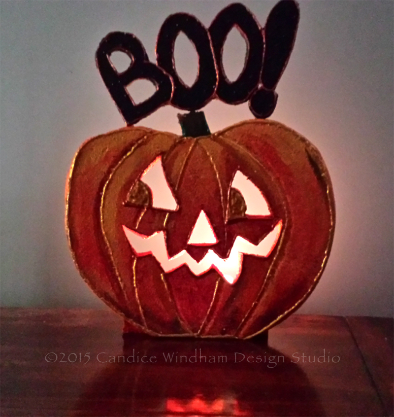 Smoothfoam light-up halloween jack-o-lantern pumpkin