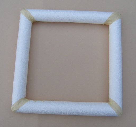 smoothfoam rods square wreath