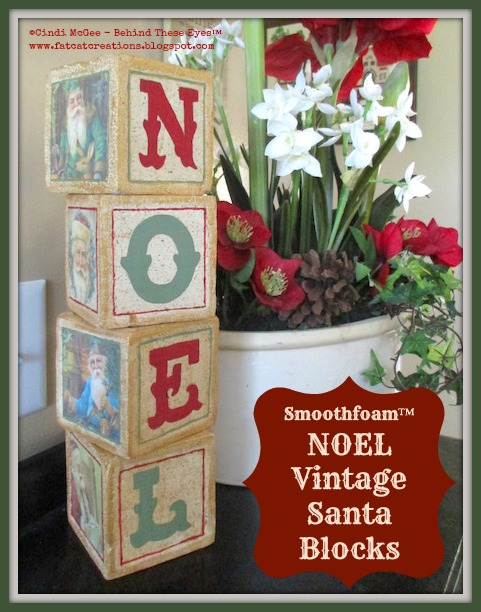 NOEL Vintage Santa Smoothfoam Blocks