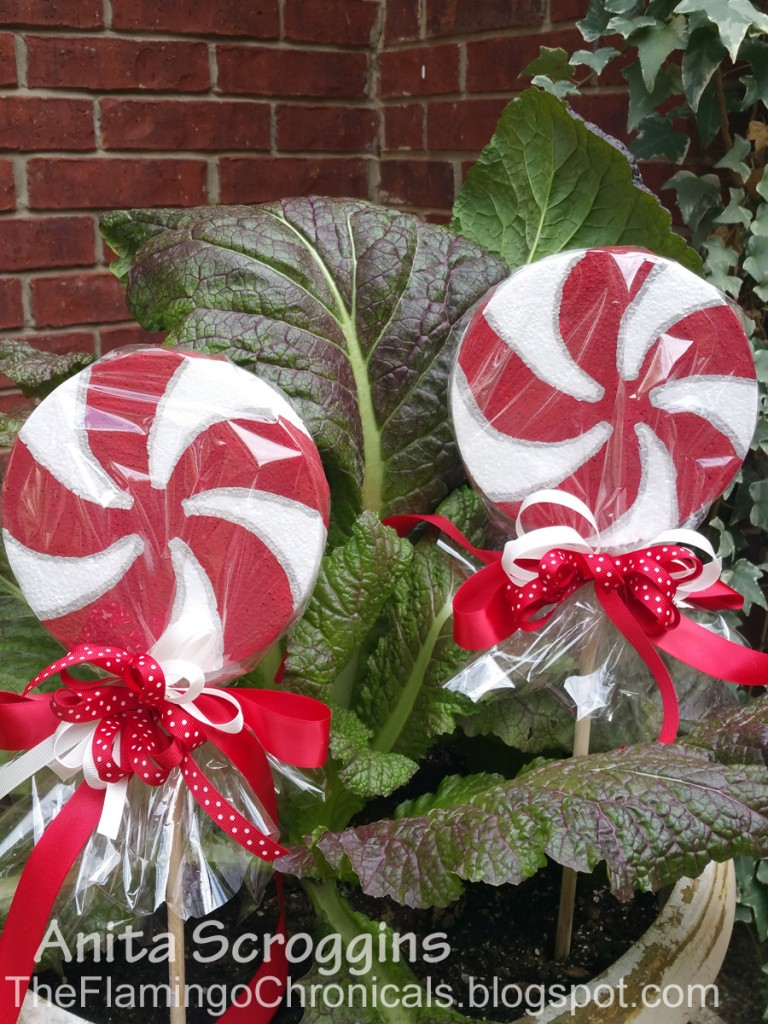 smoothfoam peppermint candy decoration