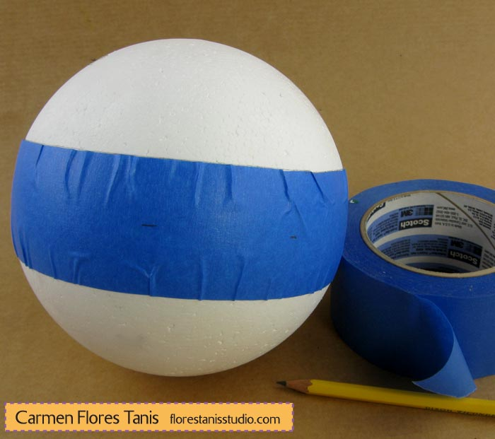 Smoothfoam-Carved-Holiday-Ball-by-Carmen-Flores-Tanis_step-2