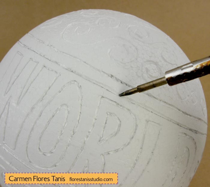 Smoothfoam-Carved-Holiday-Ball-by-Carmen-Flores-Tanis_step-4