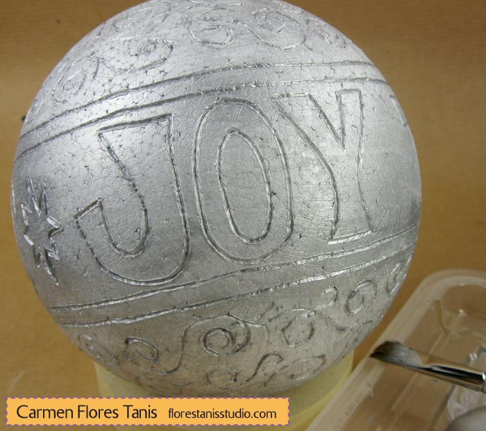 Smoothfoam-Carved-Holiday-Ball-by-Carmen-Flores-Tanis_step-5