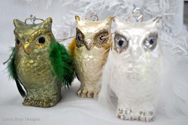 smoothfoam Owl Ornaments