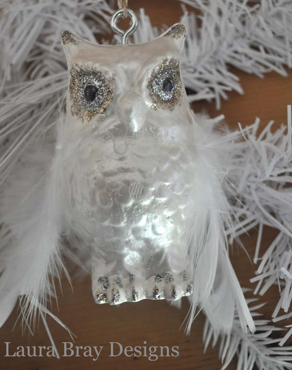 smoothfoam faux glass Owl Ornament