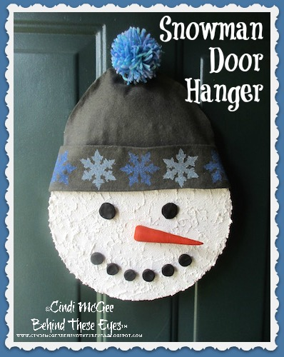 smoothfoam Snowman Door Hanger