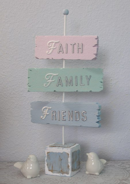 smoothfoam shabby chic signpost