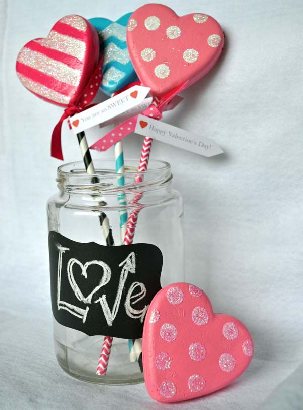 smoothfoam valentine lollipops
