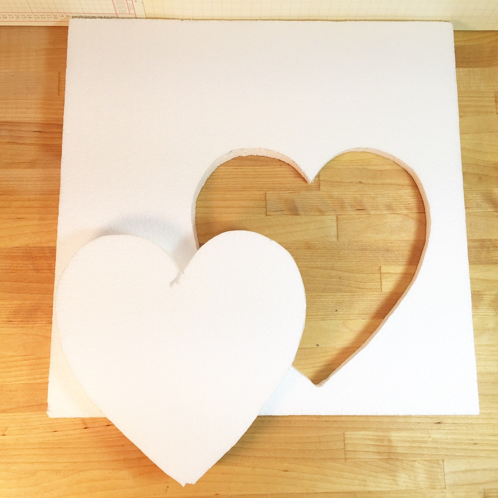 cut heart from smoothfoam sheet