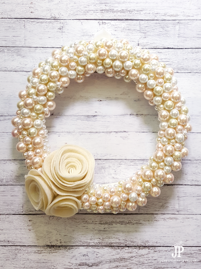 Smoothfoam diy pearl wreath