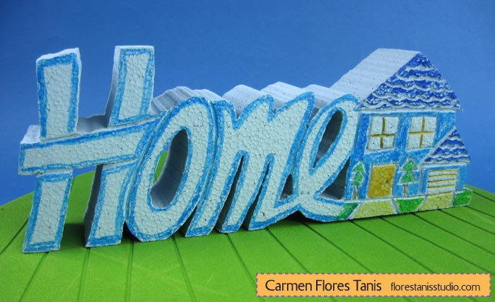 Smoothfoam-Carved-Home-Decoration by Carmen Flores Tanis