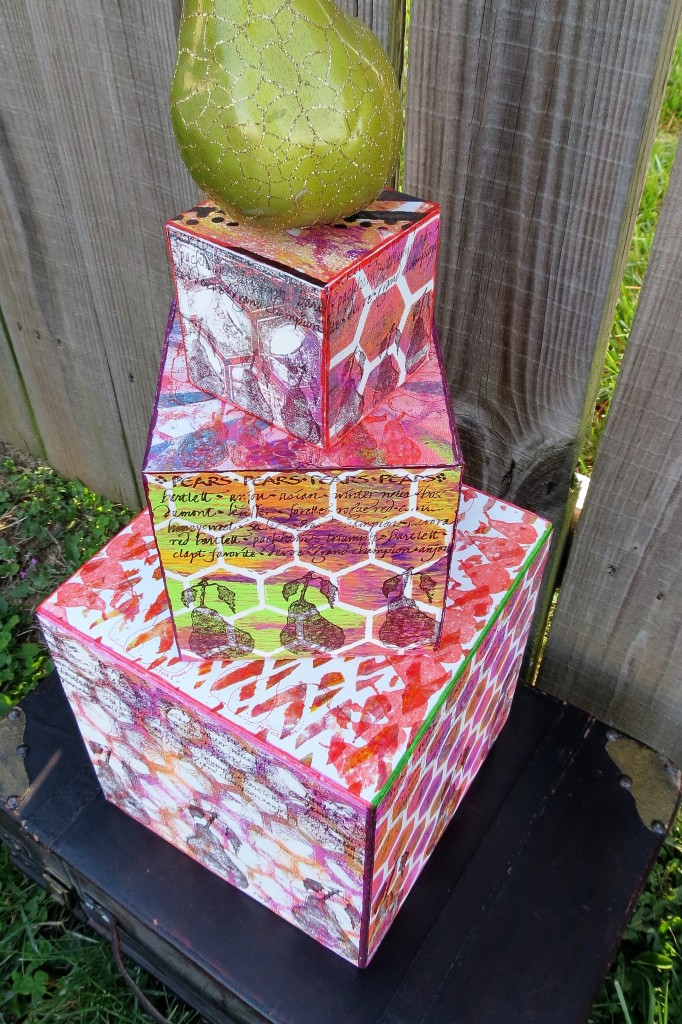 tower of smoothfoam cubes