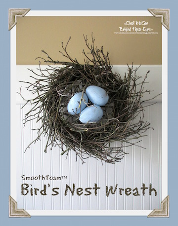 Birds Nest Wreath with eggs