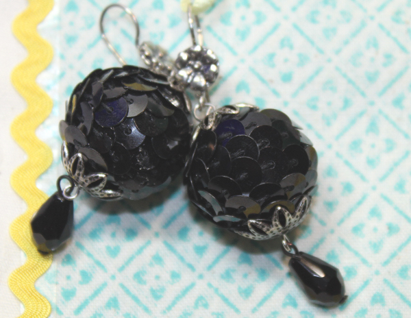 smoothfoam ball sequin earrings