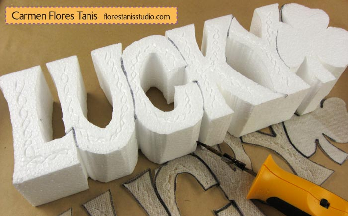 Smoothfoam-Carved-Lucky-Shamrock-Decoration-by-Carmen-Flores-Tanis-Step-3