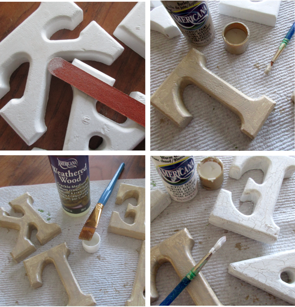 paint smoothfoam letters