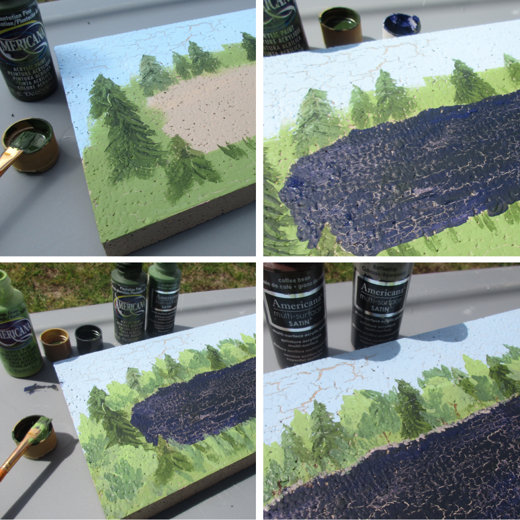 paint a scene on smoothfoam